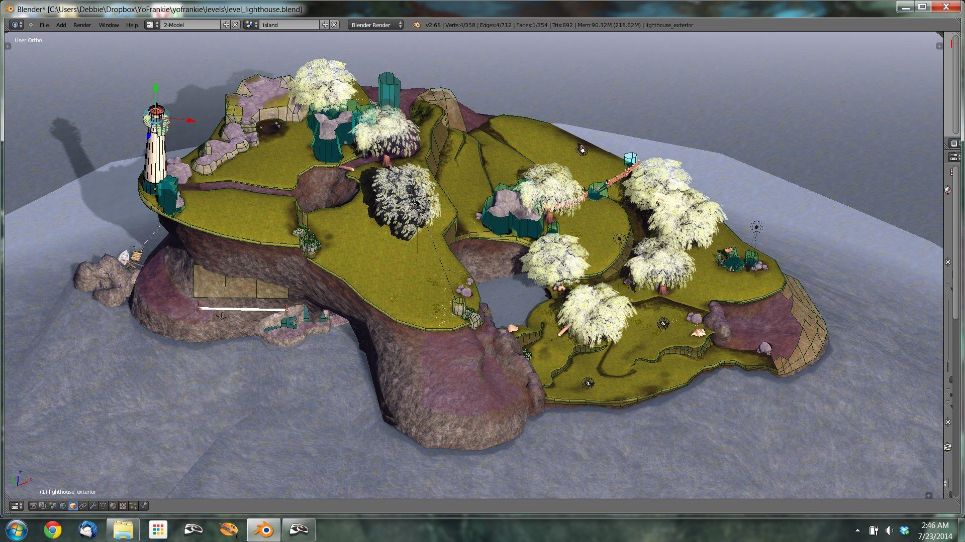 Game maker color blend - Blender View Of Lighthouse Level